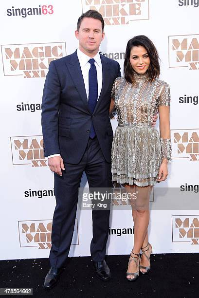 Actor Channing Tatum and actress Jenna Dewan Tatum arrive at the Los Angeles World Premiere of Warner Bros Pictures 'Magic Mike XXL' at TCL Chinese...