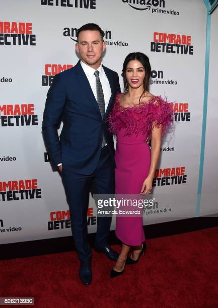Actor Channing Tatum and actress Jenna Dewan Tatum arrive at the premiere of Amazon's Comrade Detective at the ArcLight Hollywood on August 3 2017 in...