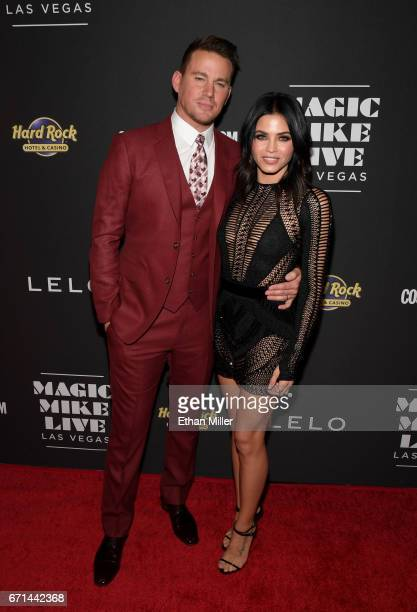 Actor Channing Tatum and actress Jenna Dewan Tatum attend the grand opening of Magic Mike Live Las Vegas at the Hard Rock Hotel Casino on April 21...
