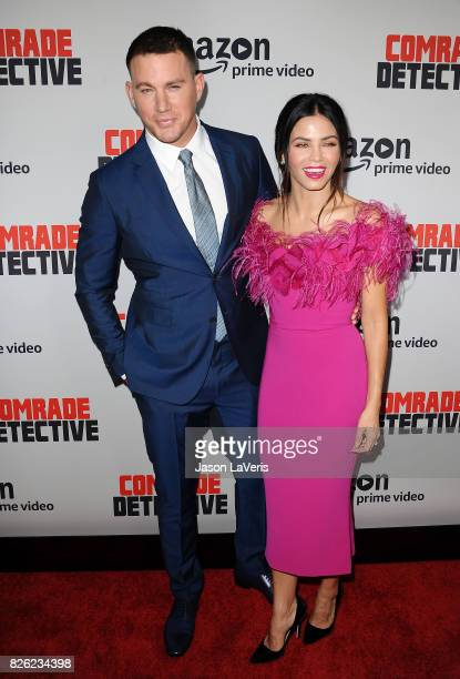 """Actor Channing Tatum and actress Jenna Dewan Tatum attend the premiere of """"Comrade Detective"""" at ArcLight Hollywood on August 3, 2017 in Hollywood,..."""