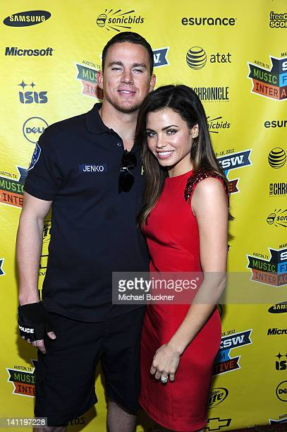 Actor Channing Tatum and actress Jenna DewanTatum attend the World Premiere of '21 Jump Street' during the 2012 SXSW Music Film Interactive Festival...