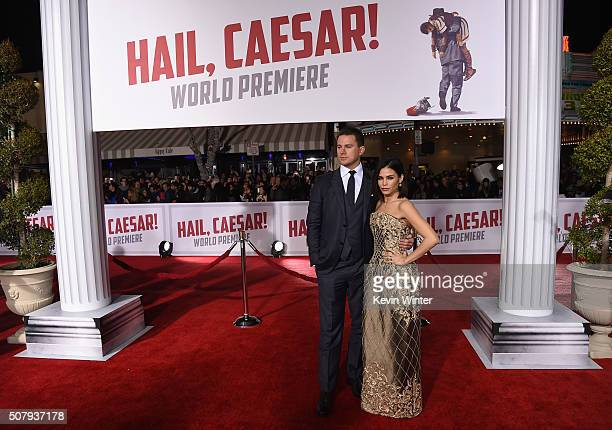 Actor Channing Tatum and actress Jenna DewanTatum attend Universal Pictures' 'Hail Caesar' premiere at Regency Village Theatre on February 1 2016 in...