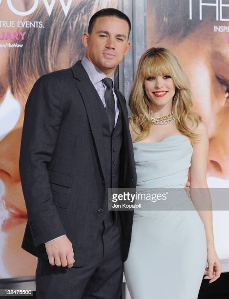 Actor Channing Tatum and actress Rachel McAdams arrive at the Los Angeles Premiere The Vow at Grauman's Chinese Theatre on February 6 2012 in...