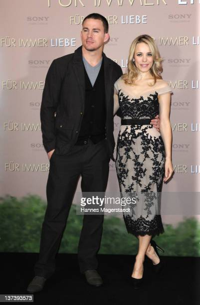 Actor Channing Tatum and actress Rachel McAdams attend the 'The Vow' Germany Photocall at the Hotel Bayerischer Hof on January 20 2012 in Munich...