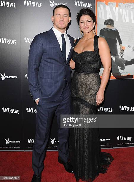 """Actor Channing Tatum and actress/mixed martial artist Gina Carano arrive at the Los Angeles Premiere """"Haywire"""" at Directors Guild Of America on..."""