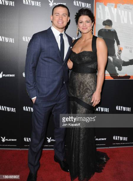 Actor Channing Tatum and actress/mixed martial artist Gina Carano arrive at the Los Angeles Premiere Haywire at Directors Guild Of America on January...