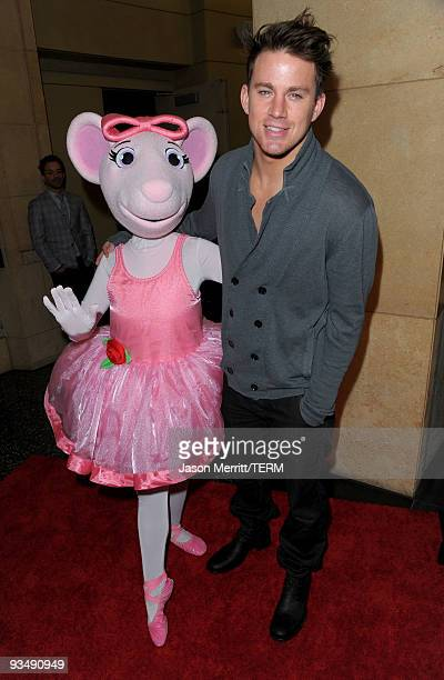 Actor Channing Tatum and Angelina Ballerina arrive at the Dizzy Feet Foundation's Inaugural Celebration of Dance at The Kodak Theater on November 29...