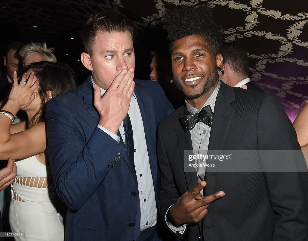 Actor Channing Tatum and Cyrus 'Glitch' Spencer attend the 5th Annual Celebration of Dance Gala presented By The Dizzy Feet Foundation at Club Nokia on August 1, 2015 in Los Angeles, California.