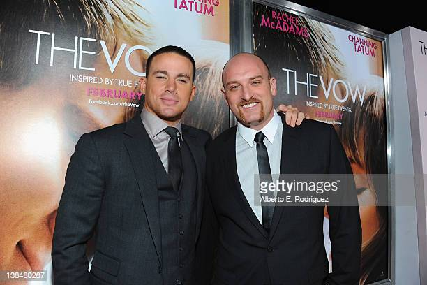 Actor Channing Tatum and director Michael Sucsy attend the premiere of Sony Pictures' 'The Vow' at Grauman's Chinese Theatre on February 6 2012 in...