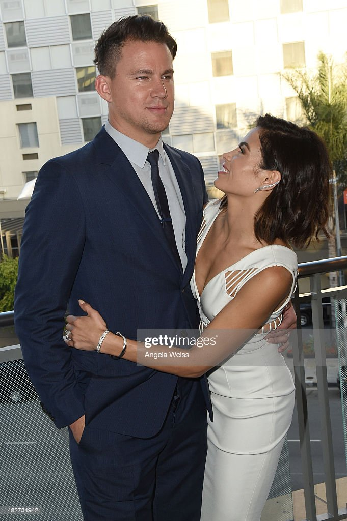 Actor Channing Tatum and his wife actress Jenna Dewan-Tatum attend the 5th Annual Celebration of Dance Gala presented By The Dizzy Feet Foundation at Club Nokia on August 1, 2015 in Los Angeles, California.
