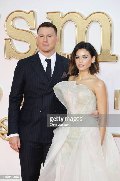 Actor Channing Tatum and Jenna Dewan Tatum attend the 'Kingsman: The Golden Circle' World Premiere held at Odeon Leicester Square on September 18,...