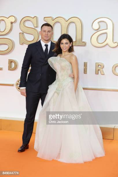 Actor Channing Tatum and Jenna Dewan Tatum attend the 'Kingsman The Golden Circle' World Premiere held at Odeon Leicester Square on September 18 2017...