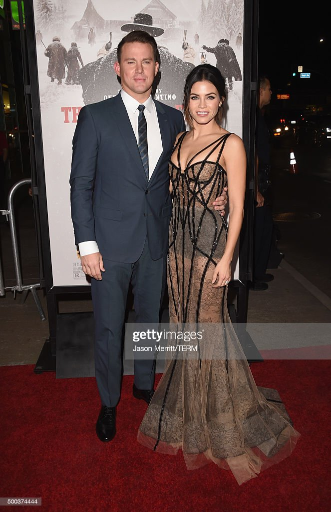 Actor Channing Tatum and Jenna Dewan Tatum attend the Premiere of The Weinstein Company's 'The Hateful Eight' at ArcLight Cinemas Cinerama Dome on December 7, 2015 in Hollywood, California.
