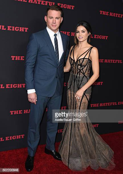 Actor Channing Tatum and wife actress Jenna Dewan Tatum arrive at the Los Angeles Premiere of 'The Hateful Eight' at ArcLight Cinemas Cinerama Dome...