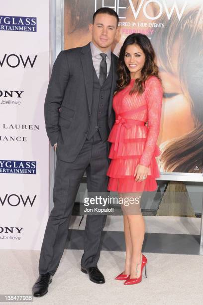 Actor Channing Tatum and wife actress Jenna DewanTatum arrive at the Los Angeles Premiere The Vow at Grauman's Chinese Theatre on February 6 2012 in...