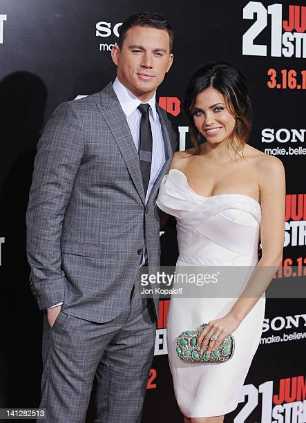 Actor Channing Tatum and wife actress Jenna DewanTatum arrive at the Los Angeles Premiere '21 Jumpstreet' at Grauman's Chinese Theatre on March 13...
