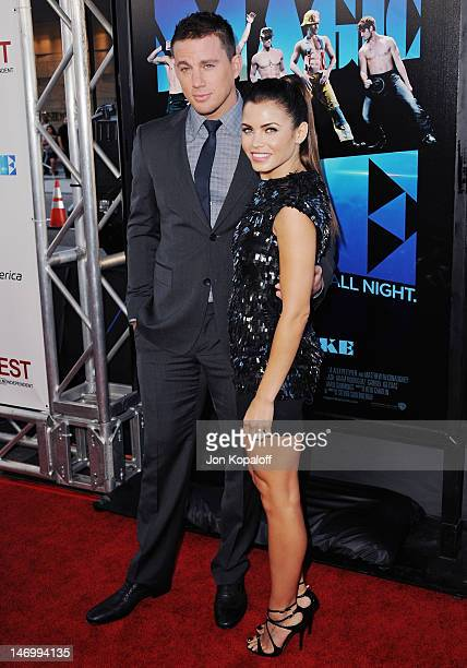 """Actor Channing Tatum and wife actress Jenna Dewan-Tatum arrive at the """"Magic Mike"""" Closing Night Premiere at the 2012 Los Angeles Film Festival at..."""
