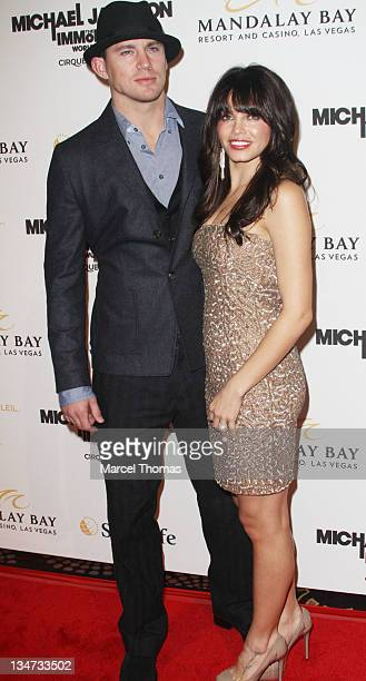 Actor Channing Tatum and wife Jenna Dewan attend the premiere of Michael Jackson THE IMMORTAL World Tour at Mandalay Bay on December 3 2011 in Las...