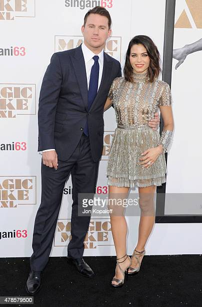 Actor Channing Tatum and wife Jenna Dewan Tatum arrive at the Los Angeles Premiere 'Magic Mike XXL' at TCL Chinese Theatre IMAX on June 25 2015 in...