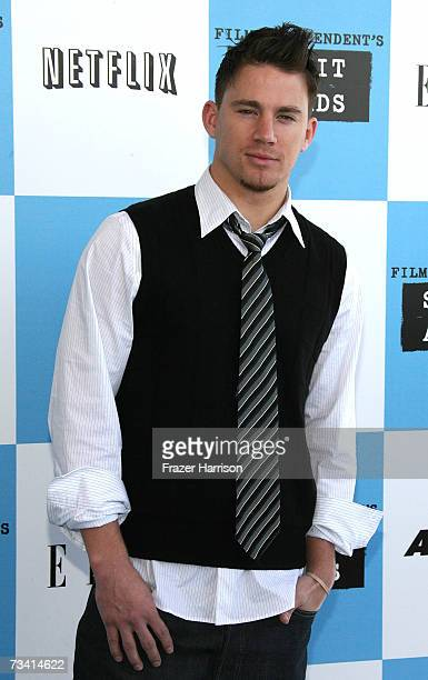 Actor Channing Tatum arrives at the 22nd Annual Film Independent Spirit Awards held at Santa Monica Beach on February 24 2007 in Santa Monica...