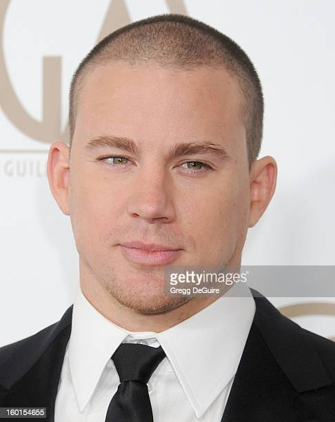 Actor Channing Tatum arrives at the 24th Annual Producers Guild Awards at The Beverly Hilton Hotel on January 26 2013 in Beverly Hills California