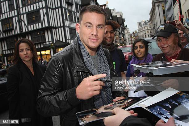 Actor Channing Tatum arrives at the Hilton Courthouse Hotel to introduce a screening for his new film 'Fighting' on May 7, 2009 in London, England.