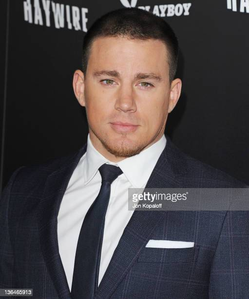 Actor Channing Tatum arrives at the Los Angeles Premiere Haywire at Directors Guild Of America on January 5 2012 in Los Angeles California