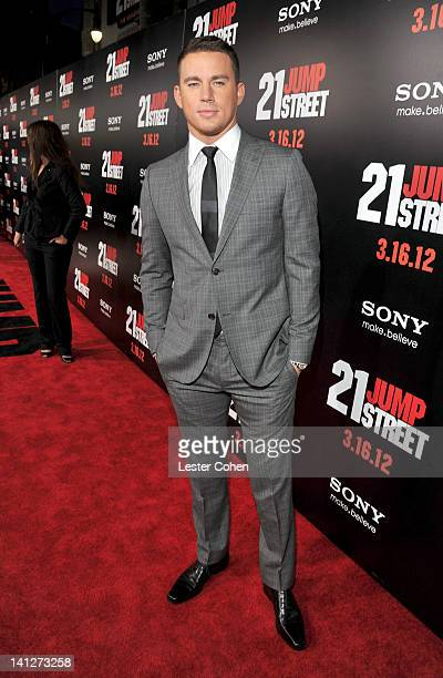Actor Channing Tatum arrives at the Los Angeles premiere of '21 Jump Street' at Grauman's Chinese Theatre on March 13 2012 in Hollywood California