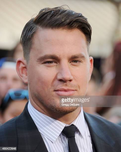 Actor Channing Tatum arrives at the Los Angeles premiere of '22 Jump Street' at Regency Village Theatre on June 10 2014 in Westwood California