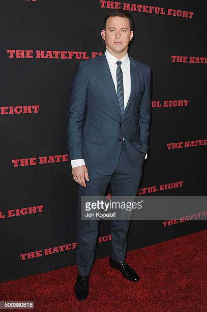 Actor Channing Tatum arrives at the Los Angeles Premiere 'The Hateful Eight' at ArcLight Cinemas Cinerama Dome on December 7 2015 in Hollywood...