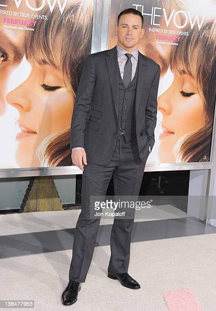 Actor Channing Tatum arrives at the Los Angeles Premiere The Vow at Grauman's Chinese Theatre on February 6 2012 in Hollywood California