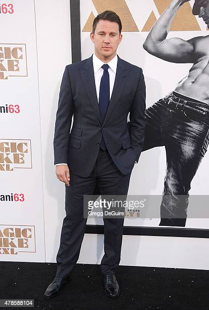 Actor Channing Tatum arrives at the Los Angeles World Premiere of Warner Bros Pictures' 'Magic Mike XXL' at TCL Chinese Theatre IMAX on June 25 2015...