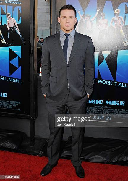 """Actor Channing Tatum arrives at the """"Magic Mike"""" Closing Night Premiere at the 2012 Los Angeles Film Festival at Regal Cinemas L.A. Live on June 24,..."""