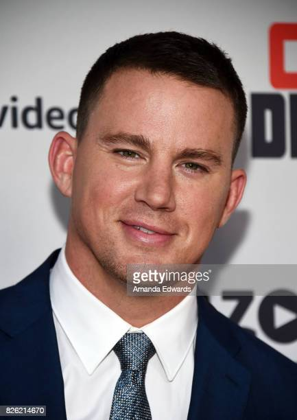 """Actor Channing Tatum arrives at the premiere of Amazon's """"Comrade Detective"""" at the ArcLight Hollywood on August 3, 2017 in Hollywood, California."""