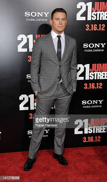 Actor Channing Tatum arrives at the Premiere Of Columbia Pictures' '21 Jump Street' at Grauman's Chinese Theatre on March 13 2012 in Hollywood...