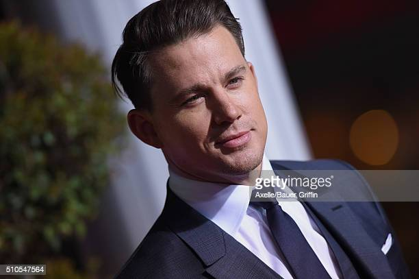 Actor Channing Tatum arrives at the premiere of Universal Pictures' 'Hail Caesar' at Regency Village Theatre on February 1 2016 in Westwood California