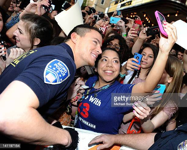 Actor Channing Tatum arrives at the World Premiere of '21 Jump Street' during the 2012 SXSW Music Film Interactive Festival at Paramount Theater on...
