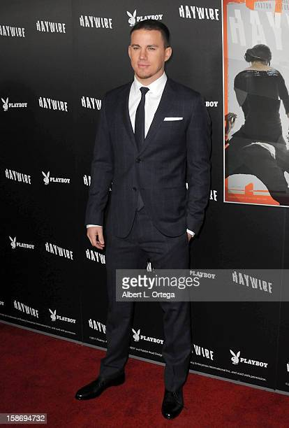 Actor Channing Tatum arrives for Relativity Media's 'Haywire' Los Angeles Premiere hosted by Playboy at the DGA Theatre on January 5 2012 in West...