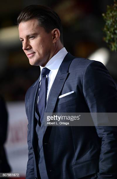 Actor Channing Tatum arrives for the Premiere Of Universal Pictures' 'Hail Caesar' held at Regency Village Theatre on February 1 2016 in Westwood...