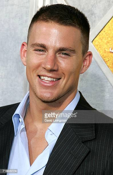 Actor Channing Tatum arrives for Touchstone Pictures' premiere of 'Step Up' at the ArcLight Cinemas on August 7 2006 in Hollywood California