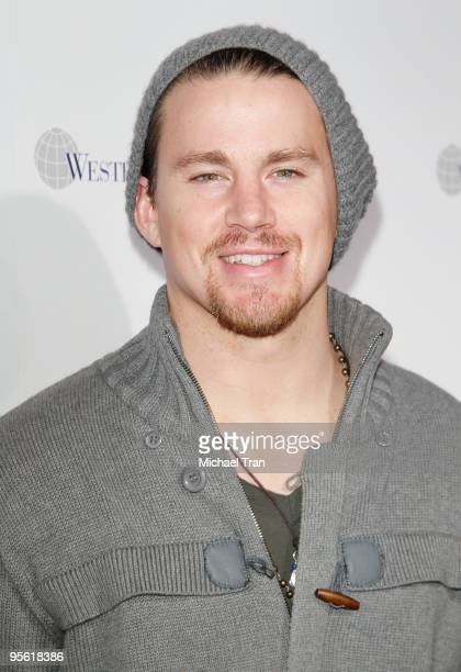 Actor Channing Tatum arrives to the 2010 Official BCS National Championship Party held at Pasadena Convention Center on January 6 2010 in Pasadena...