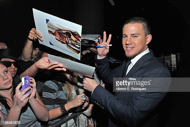 Actor Channing Tatum arrives to the premiere of Relativity Media's Haywire at DGA Theater on January 5 2012 in Los Angeles California