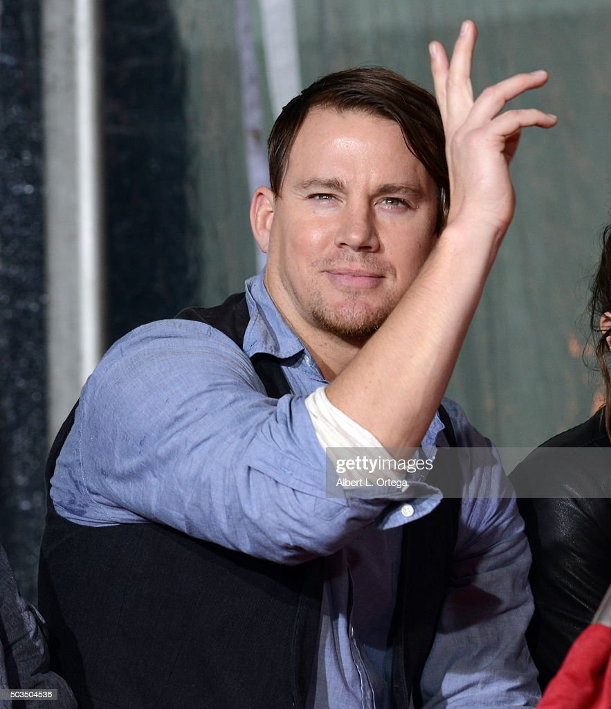 Actor Channing Tatum at Quentin Tarantino's hands and footprints ceremony held at TCL Chinese Theatre on January 5, 2016 in Hollywood, California.
