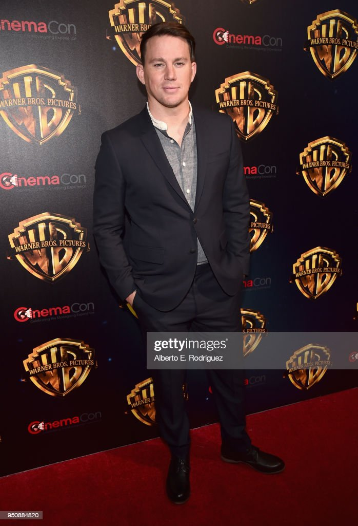 """Actor Channing Tatum attends CinemaCon 2018 Warner Bros. Pictures Invites You to """"The Big Picture"""", an Exclusive Presentation of our Upcoming Slate at The Colosseum at Caesars Palace during CinemaCon, the official convention of the National Association of Theatre Owners, on April 24, 2018 in Las Vegas, Nevada."""