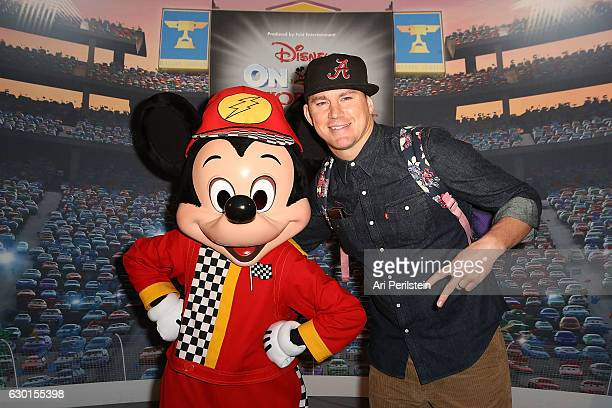 Actor Channing Tatum attends Disney On Ice Presents Worlds Of Enchantment Celebrity Guests at Staples Center on December 17 2016 in Los Angeles...