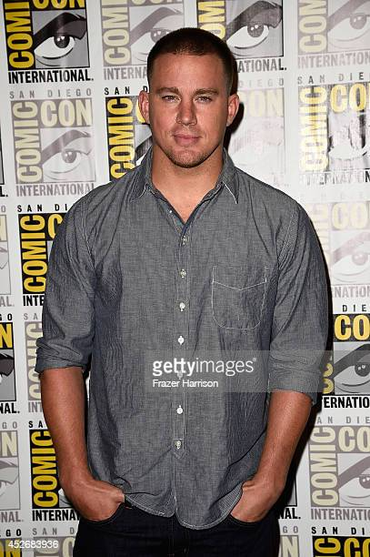 Actor Channing Tatum attends the 20th Century Fox press line during Comic-Con International 2014 at Hilton Bayfront on July 25, 2014 in San Diego,...