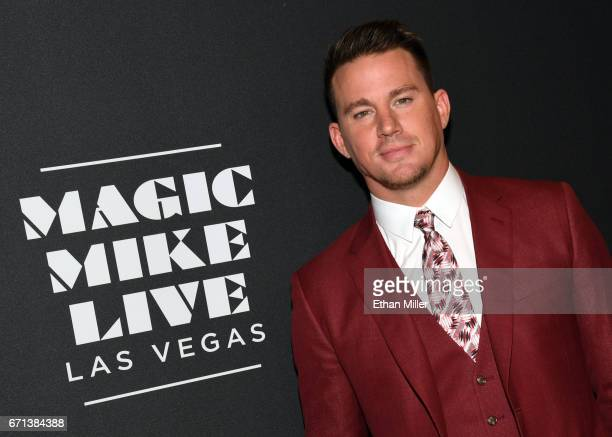 Actor Channing Tatum attends the grand opening of Magic Mike Live Las Vegas at the Hard Rock Hotel Casino on April 21 2017 in Las Vegas Nevada