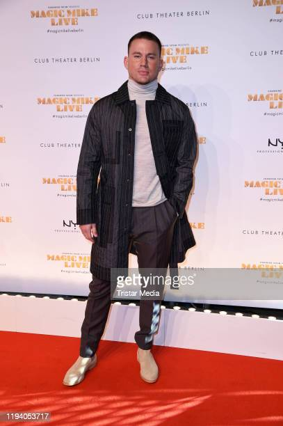 """Actor Channing Tatum attends the """"Magic Mike Live"""" premiere at Club Theater on January 16, 2020 in Berlin, Germany."""