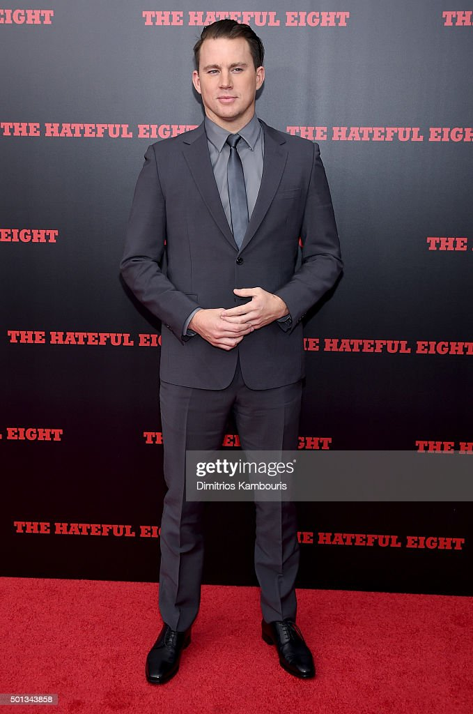 Actor Channing Tatum attends the New York premiere of 'The Hateful Eight' on December 14, 2015 in New York City.