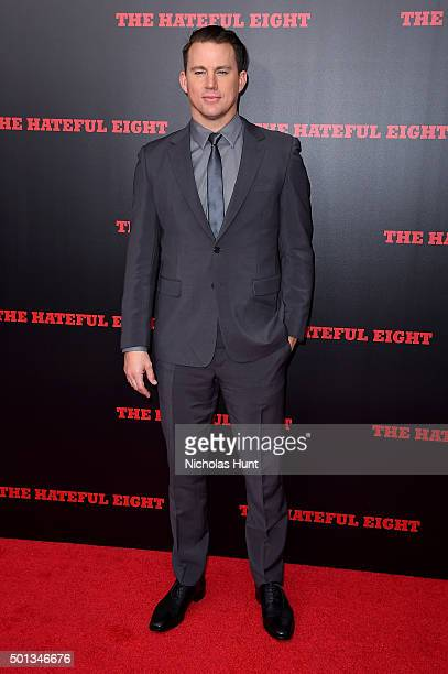 Actor Channing Tatum attends the New York premiere of 'The Hateful Eight' on December 14 2015 in New York City